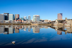 Downtown Portland Reflection Royalty Free Stock Images