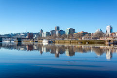 Downtown Portland Reflection Stock Photography