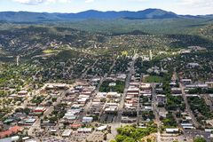 Downtown Prescott, Arizona. Aerial view of Downtown Prescott, Arizona Royalty Free Stock Photography