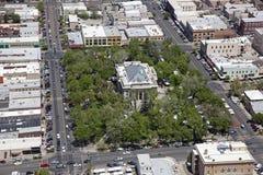 Downtown Prescott. Arizona and the Yavapai County Courthouse Royalty Free Stock Photo