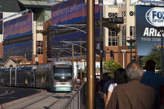 Downtown Pro Sports Area in Phoenix, Arizona Stock Image