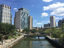 Downtown Providence, Rhode Island. Royalty Free Stock Image