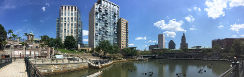 Downtown Providence, Rhode Island panoramic. Royalty Free Stock Photos