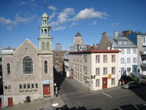 Downtown Quebec City Stock Image