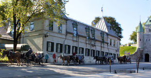Downtown Quebec City at the morning Royalty Free Stock Photos