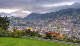 Downtown Quito On A Cloudy Afternoon Stock Photos
