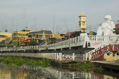 Downtown of Ratchaburi Province Royalty Free Stock Photo
