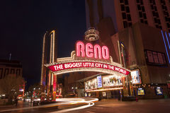 Downtown Reno Arch Royalty Free Stock Photos