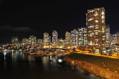 Downtown residential district at night Stock Photography