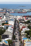 Downtown Reykjavik, bird-eye view Royalty Free Stock Images
