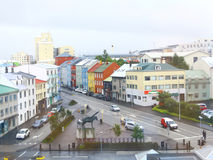 Downtown Reykjavik with colorful houses, Iceland. Royalty Free Stock Photo