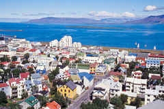 Downtown Reykjavik, Iceland. Downtown Reykjavik with colorful houses, Iceland Stock Photos