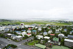 Downtown Reykjavik, Iceland. Areal view on Downtown Reykjavik, Iceland Stock Image