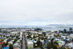 Downtown of Reykjavik Iceland Stock Image