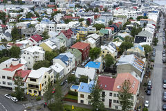 Downtown of Reykjavik Iceland Royalty Free Stock Photos