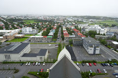 Downtown of Reykjavik Iceland Stock Photo