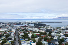 Downtown of Reykjavik Iceland Stock Photos