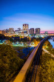 Downtown Richmond, Virginia skyline Stock Images