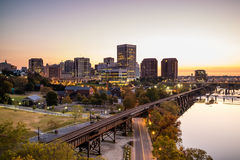 Downtown Richmond, Virginia skyline Royalty Free Stock Photography