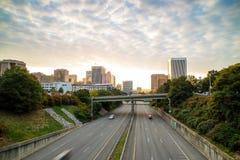 Downtown Richmond, Virginia skyline. At twilight royalty free stock photo