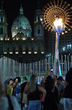 Downtown Rio2016 Olympic flame Royalty Free Stock Photography