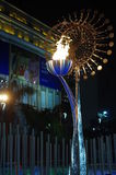 Downtown Rio2016 Olympic flame Royalty Free Stock Photo