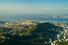 Downtown Rio and the Rio-Niteroi Bridge. In Rio De Janeiro, Brazil Royalty Free Stock Image