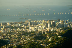 Downtown Rio and the Rio-Niteroi Bridge Royalty Free Stock Image