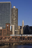 Downtown and river of Chicago Stock Image
