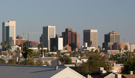 Downtown Roofs of Phoenix, AZ Royalty Free Stock Photography