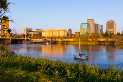 Sacramento at sunset Stock Photo