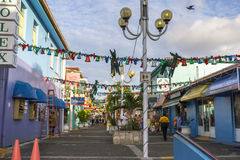Downtown of Saint John's, Antigua. St. John's, Antigua and Barbuda - January 09, 2016: Downtown of Saint John's, Antigua. It is the commercial center and the royalty free stock photography