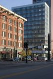 Downtown Salt Lake. Buildings and the street in Downtown Salt Lake City Royalty Free Stock Image