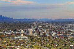 Downtown Salt Lake City sunset Royalty Free Stock Images