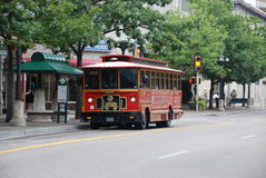 Downtown San Antonio. Trolley in downtown San Antonio, Texas Royalty Free Stock Images