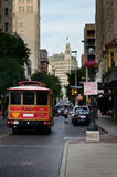 Downtown San Antonio. Trolley in downtown San Antonio, Texas royalty free stock photo