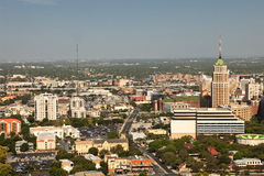 Downtown San Antonio. An aerial view of downtown San Antonio Texas Royalty Free Stock Images