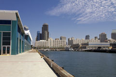 Downtown San Diego From The Broadway Harbor Pier royalty free stock images