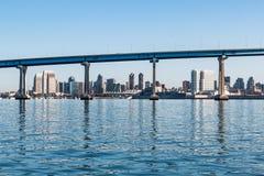 Downtown San Diego Through the Coronado Bridge stock images