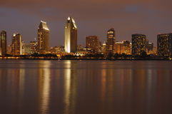 Downtown, San Diego, Dusk Stock Photo