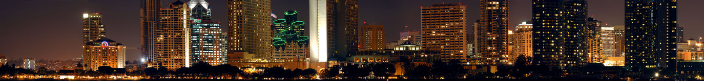 Downtown San Diego night Stock Photos