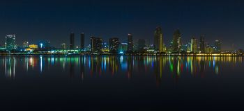 Downtown San Diego at night. Mart 2015. Downtown San Diego at night. Mar 2015 Royalty Free Stock Photos