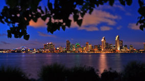 Downtown San Diego Skyline from Bayview Park in Coronado Royalty Free Stock Photography