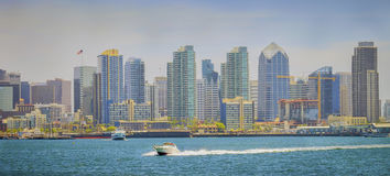 Downtown San Diego Skyline, Panoramic Vista Stock Photography