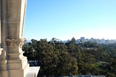 Downtown San Diego from Tower of Man. Royalty Free Stock Photography