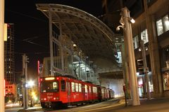 Downtown San Diego Trolley Station royalty free stock photo
