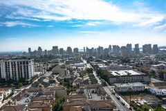Downtown San Diego view from above, California. Panoramic view of downtown San Diego from above, California stock photo