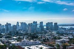 Downtown San Diego view from above, California. Panoramic view of downtown San Diego from above, California royalty free stock photo