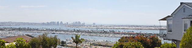 A Downtown San Diego View from Point Loma Stock Photography