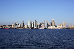 Downtown san diego. The downtown of San Diego viewed from Coronado island Royalty Free Stock Photography